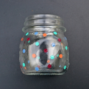 DIY Polka Dot Jar & Hanging Lantern serendipidiy.wordpress.com