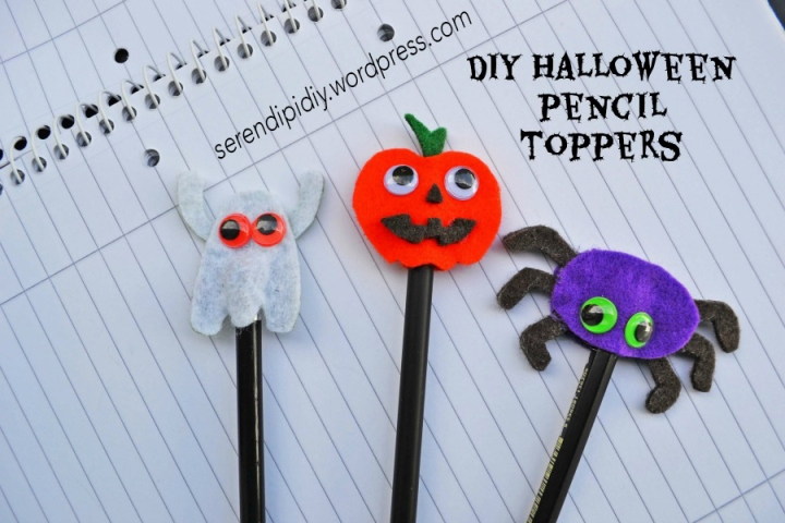 DIY Halloween Pencil Toppers with Googly Eyes 👀🎃🕷👻