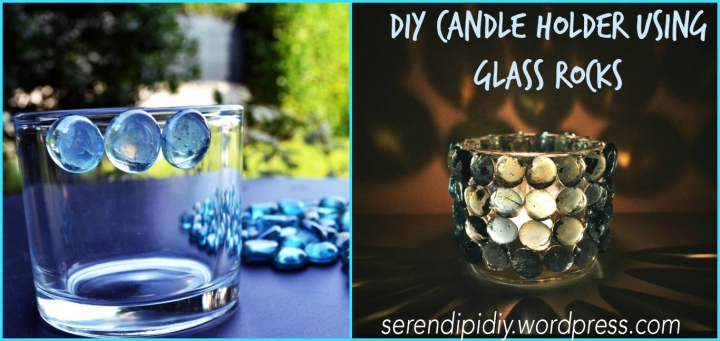 DIY Candle Holder using Glass Rocks 🕯