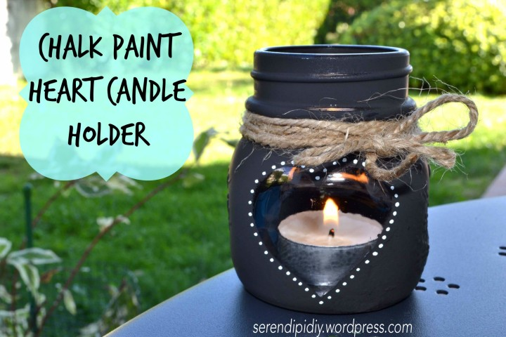 DIY Chalk Paint Heart Candle Holder🕯🍂🍁