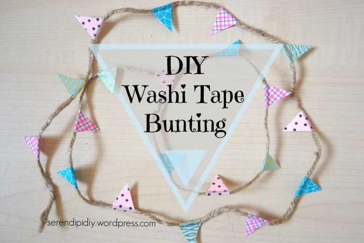 DIY Washi Tape Bunting ✂️△▲