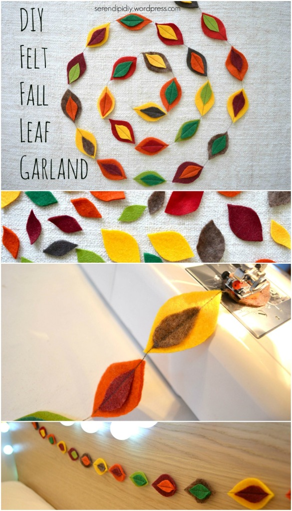DIY Felt Fall Leaf Garland - serendipidiy.wordpress.com