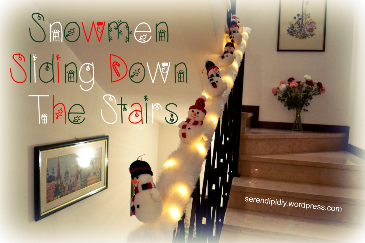 Diy Snowmen Sliding Down The Stairs ☃️☃️ Serendipidiy