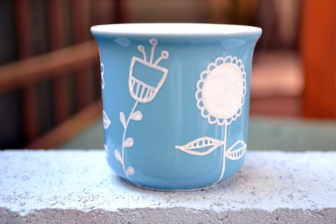 Decorated Coffee Mug - Plant in a Mug Gift Idea - serendipidiy.wordpress.com