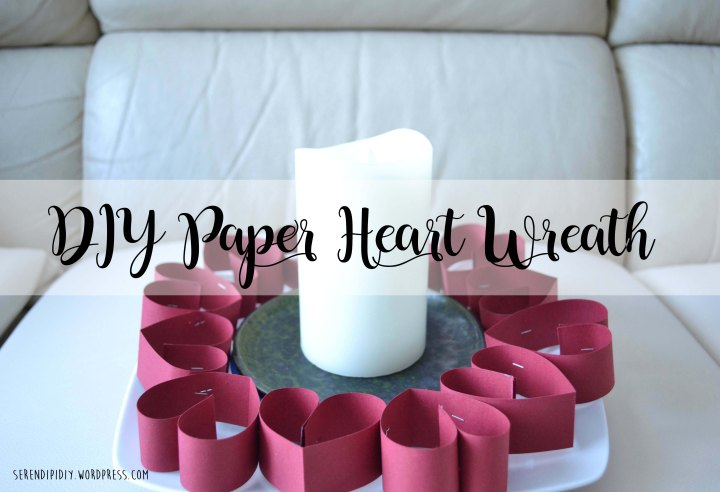 Easy DIY Paper Heart Wreath❤️🕯