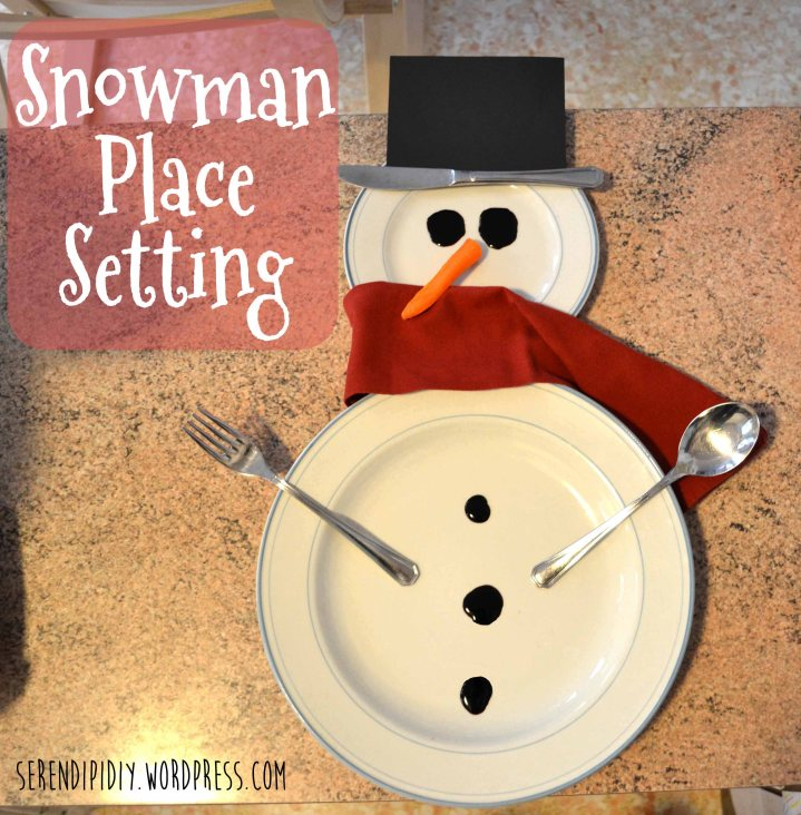 Snowman Place Setting ⛄️🍽