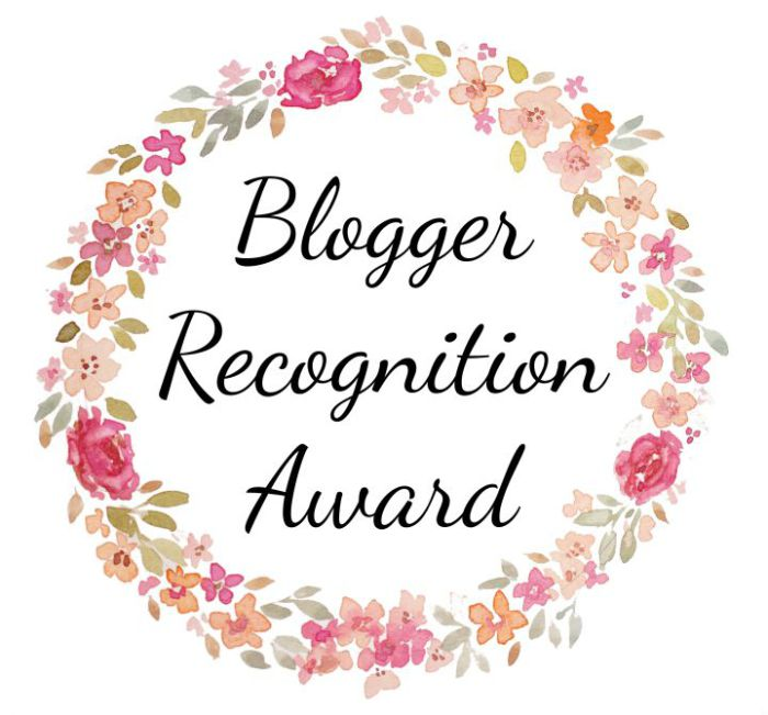 Blogger Recognition Award! 🏅