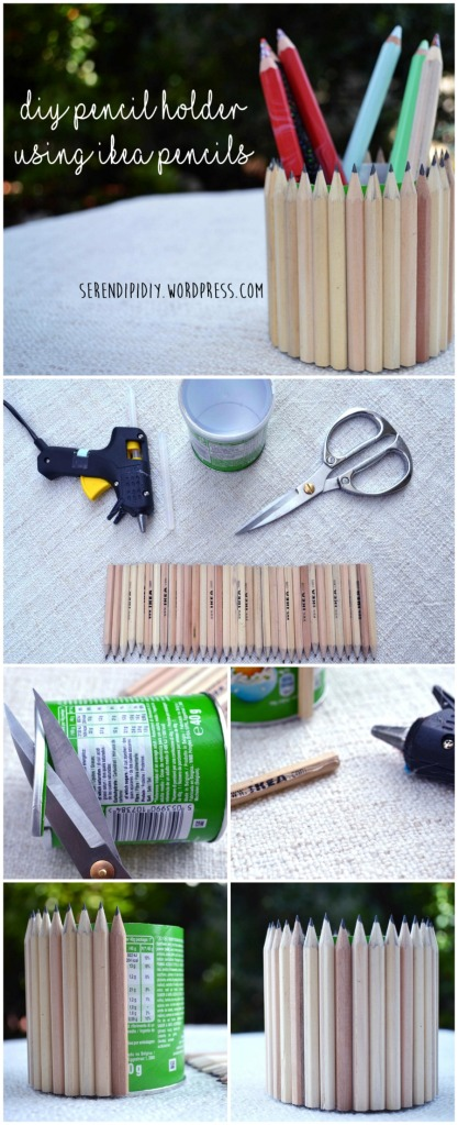 DIY Pencil holder using IKEA pencils