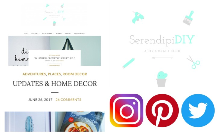 New blog theme • New logo • New social media (Pinterest, Twitter, Instagram)