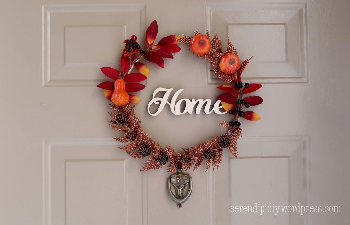 DIY Front Door Wreath – Fall