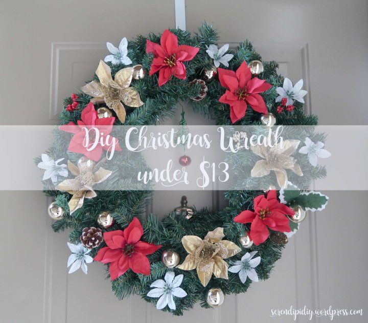 DIY Christmas Wreath under $13