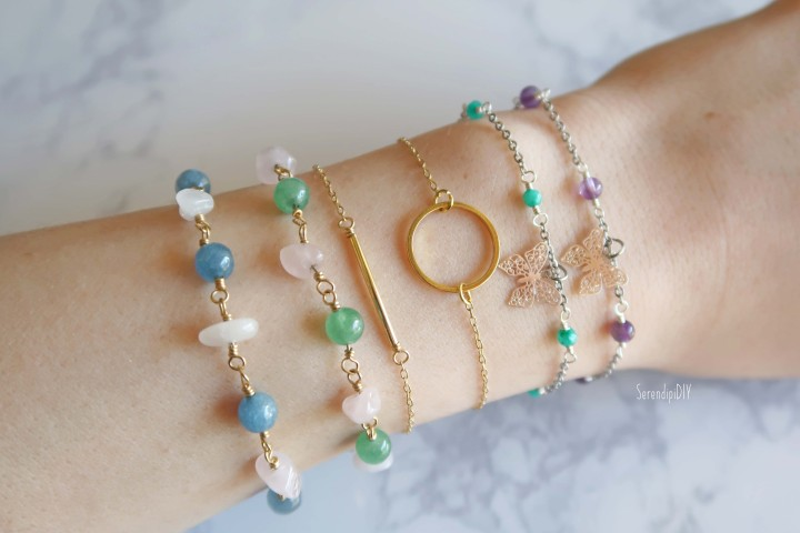 6 New Handmade Bracelets and *2 Earrings* in my Etsy Shop!